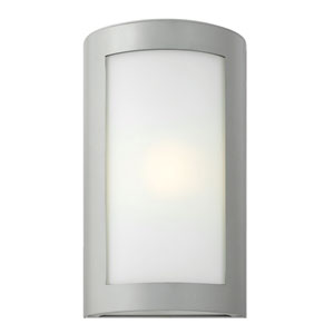 Solara Titanium 15.5-Inch One-Light Outdoor Wall Mounted