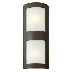 Solara Bronze Two Light Outdoor Wall Mounted