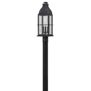 Bingham Greystone 8-Inch Three-Light Outdoor Post Mounted