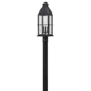 Bingham Greystone 8-Inch Three-Light Outdoor Post Top and Pier Mount