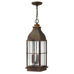 Bingham Sienna 8-Inch Three-Light Outdoor Hanging Pendant