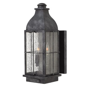 Bingham Greystone Two-Light Outdoor Wall Mounted