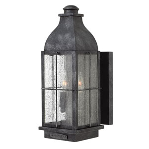 Bingham Greystone 6-Inch Two-Light Outdoor Medium Wall Mount