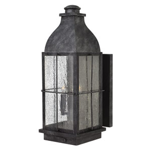 Bingham Greystone Three-Light Outdoor Wall Mounted