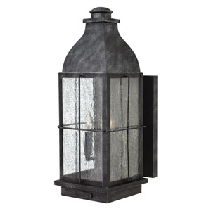 Bingham Greystone 8-Inch Three-Light Outdoor Large Wall Mount