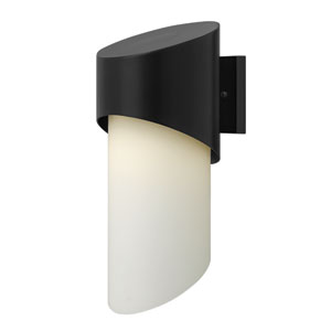 Solo Satin Black 17-Inch One-Light Outdoor Wall Mounted