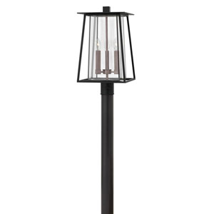 Walker Black 11-Inch Three-Light Outdoor Post Top and Pier Mount