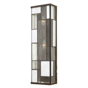 Mondrian Buckeye Bronze Three-Light Outdoor Wall Sconce