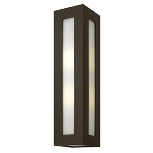 Dorian Bronze 25-Inch Two-Light Outdoor Wall Light