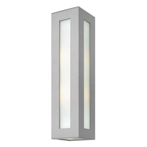 Dorian Titanium Two Light Outdoor Wall Light