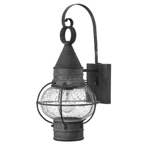 Cape Cod Aged Zinc 18-Inch One-Light LED Outdoor Wall Sconce