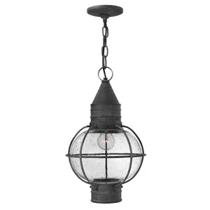 Cape Cod Aged Zinc One-Light Outdoor Pendant
