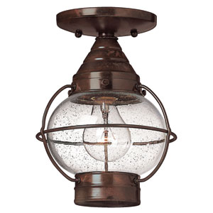 Cape Cod Sienna Bronze Flush Mount Outdoor Ceiling Light