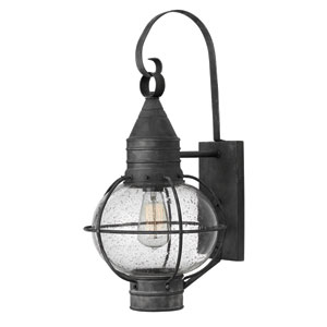 Cape Cod Aged Zinc 23.5-Inch One-Light Outdoor Wall Sconce