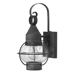 Cape Cod Aged Zinc 14-Inch One-Light Outdoor Wall Sconce