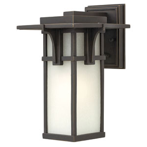 Manhattan Oil Rubbed Bronze 12-Inch One-Light Outdoor Lantern