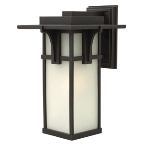 Manhattan Oil Rubbed Bronze 18.5-Inch LED One-Light Outdoor Lantern with Extern