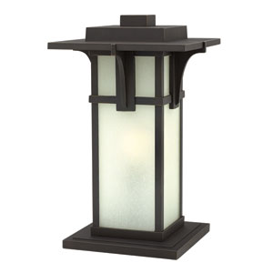 Manhattan Oil Rubbed Bronze 18.5-Inch One-Light Outdoor Post Mounted