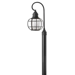 New Castle Black 22-Inch One-Light Halogen Outdoor Post Mount