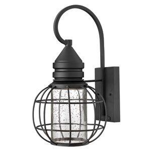 New Castle Black 17-Inch One-Light Halogen Outdoor Lantern