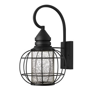 New Castle Black 19.5-Inch One-Light Halogen Outdoor Lantern