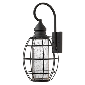 New Castle Black 24-Inch One-Light Halogen Outdoor Lantern