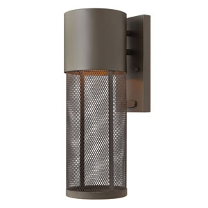Aria Buckeye Bronze 14-Inch One-Light Outdoor Wall Lantern