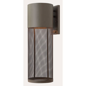 Aria Buckeye Bronze 7-Inch One-Light Outdoor Wall Mounted
