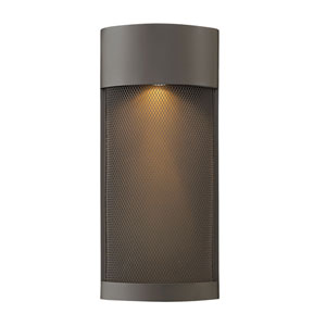 Aria Buckeye Bronze 8-Inch One-Light Outdoor Pocket Wall Mount