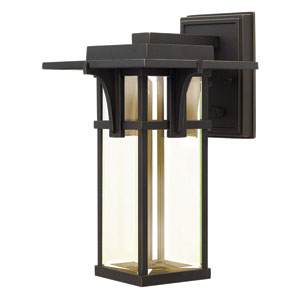 Manhattan Oil Rubbed Bronze 12-Inch One-Light LED Outdoor Wall Sconce