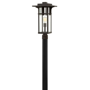Manhattan Oil Rubbed Bronze 21.5-Inch One-Light Outdoor Post Mounted