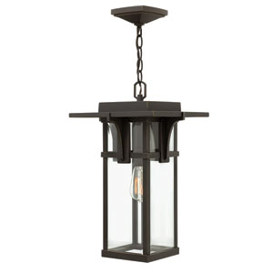 Manhattan Oil Rubbed Bronze One-Light Outdoor Pendant