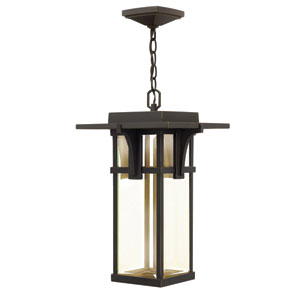 Manhattan Oil Rubbed Bronze One-Light LED Outdoor Pendant