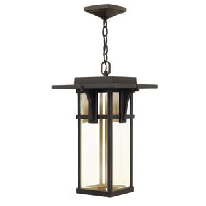 Manhattan Oil Rubbed Bronze One-Light LED Outdoor Pendant