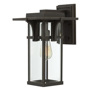 Manhattan Oil Rubbed Bronze One-Light Outdoor Wall Mounted