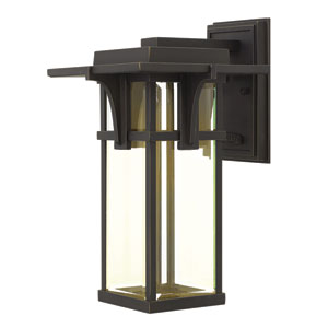 Manhattan Oil Rubbed Bronze 15-Inch One-Light LED Outdoor Wall Sconce