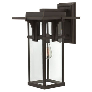 Manhattan Oil Rubbed Bronze 18.5-Inch One-Light Outdoor Wall Mounted