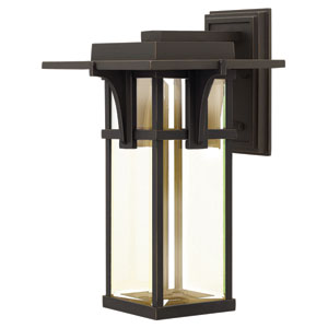 Manhattan Oil Rubbed Bronze 18.5-Inch One-Light LED Outdoor Wall Sconce