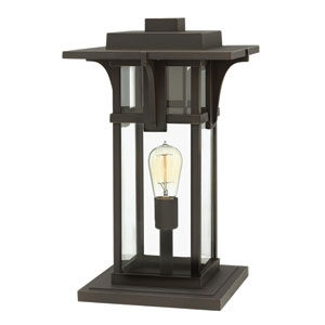 Manhattan Oil Rubbed Bronze 11.5-Inch One-Light Outdoor Pier Mounted