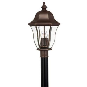 Monticello Copper Bronze Three-Light Outdoor Light