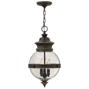 Saybrook Oil Rubbed Bronze Three-Light Outdoor Pendant
