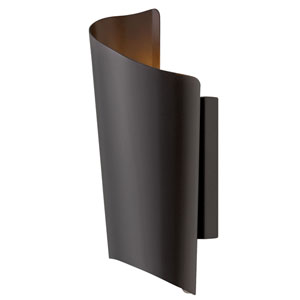 Surf Satin Black 6-Inch LED Outdoor Small Wall Mount