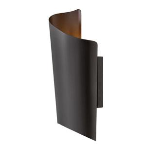 Surf Satin Black 8-Inch LED Outdoor Medium Wall Mount