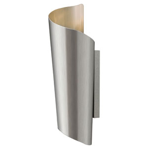 Surf Stainless Steel 19-Inch Two Light LED Outdoor Wall Light