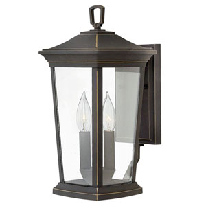 Bromley Oil Rubbed Bronze Two-Light Outdoor 15-Inch Small Wall Mount