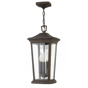 Bromley Oil Rubbed Bronze Three-Light Outdoor 19-Inch Hanging Light