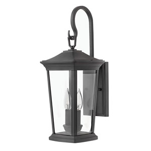 Bromley Museum Black 20-Inch Two-Light Outdoor Small Wall Mount