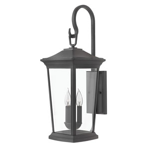 Bromley Museum Black 25-Inch Three-Light Outdoor Medium Wall Mount