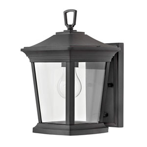 Bromley Museum Black 8-Inch One-Light Outdoor Mini Wall Mount