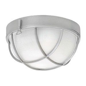 Marina Bronze Two-Light Outdoor 5-Inch Flush Mount